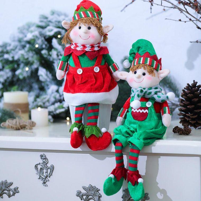 duendes navideños repisa