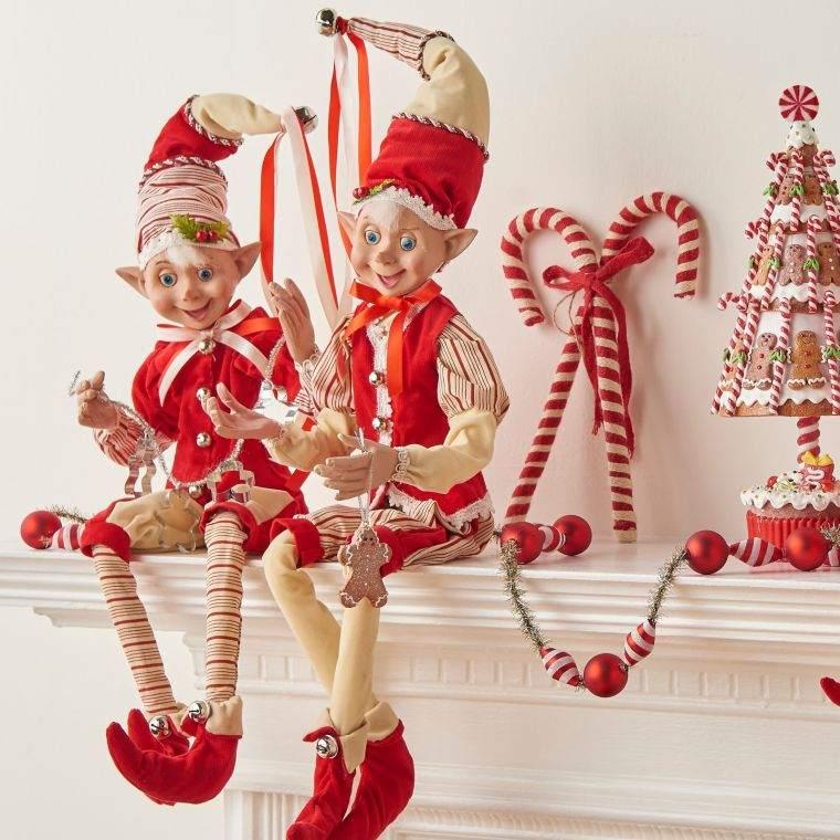 duendes navideños rojo