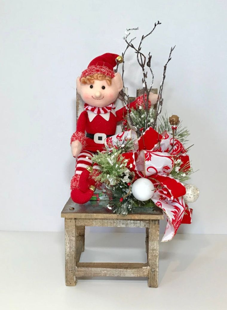 duendes navideños silla