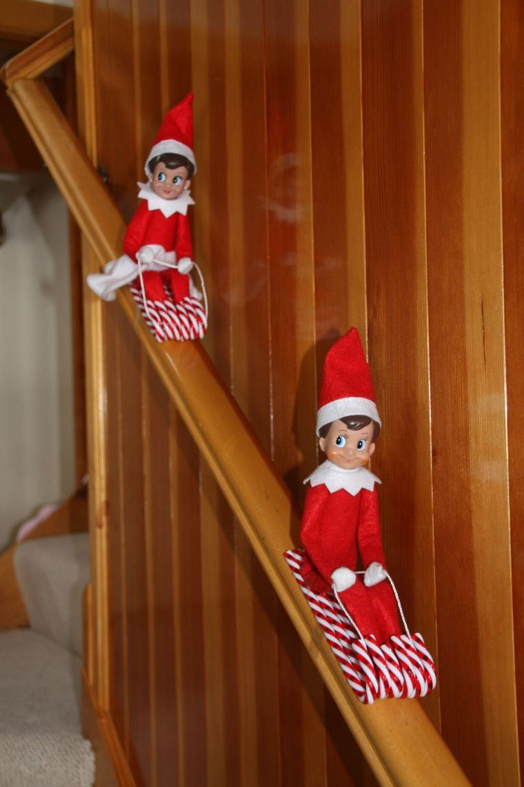 duendes navideños trineo