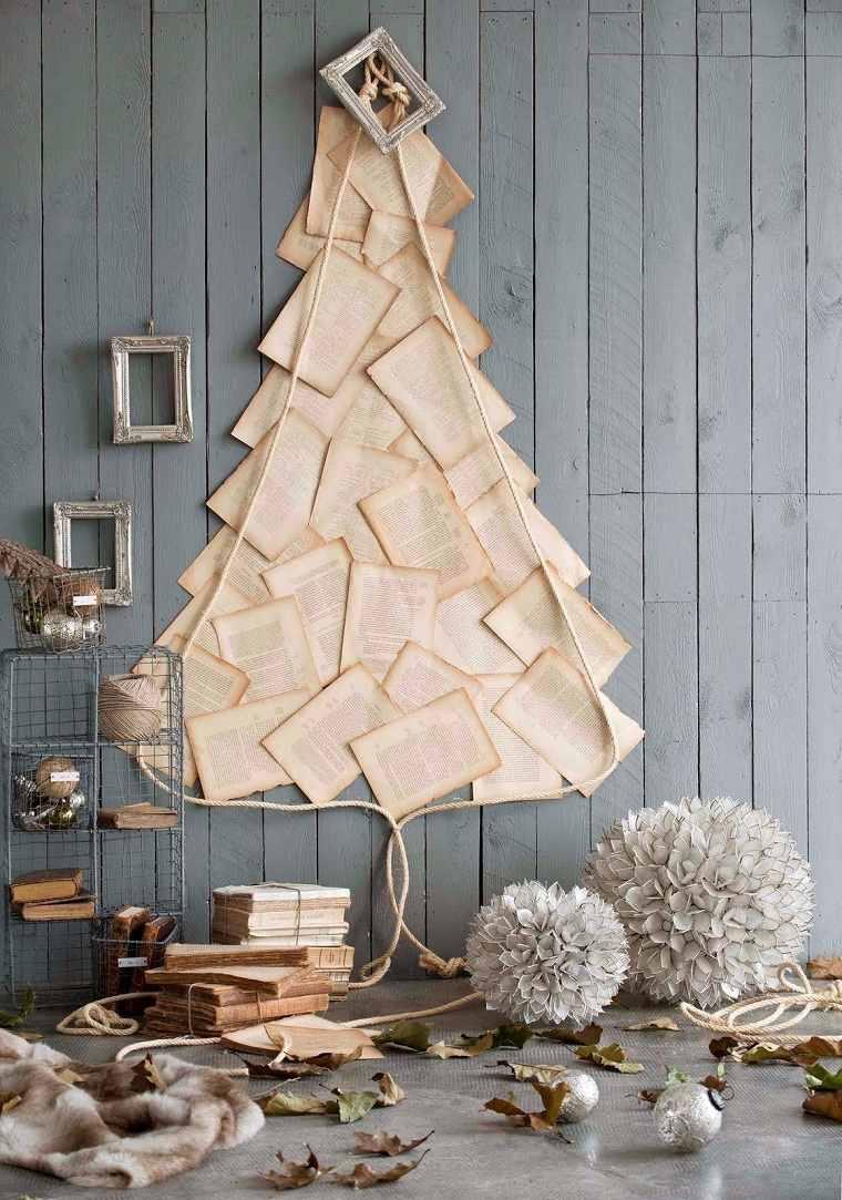 Árbol navideño reciclado – 40 ideas fantasticas para aprovechar