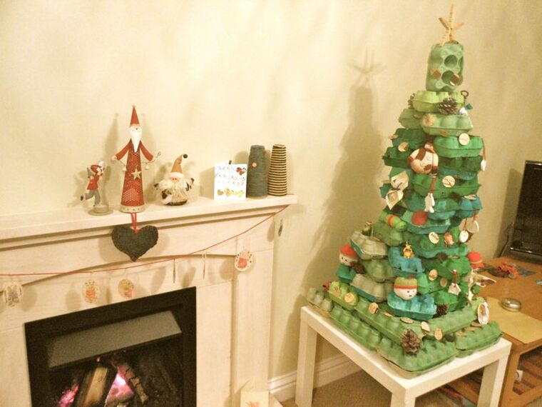 ideas de árboles de navidad carton