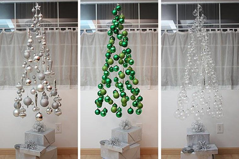 ideas de árboles de navidad colgado