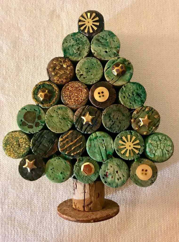 ideas de árboles de navidad corcho
