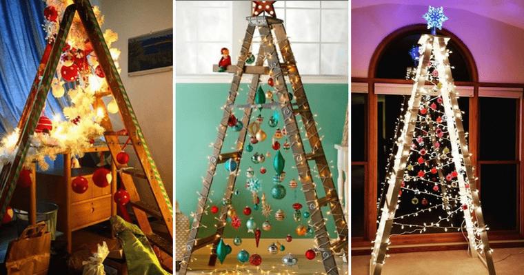 ideas de árboles de navidad escalera