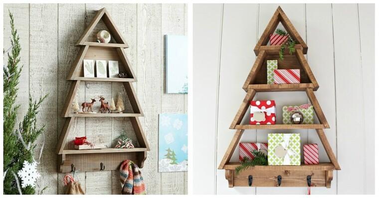 ideas de árboles de navidad estantes
