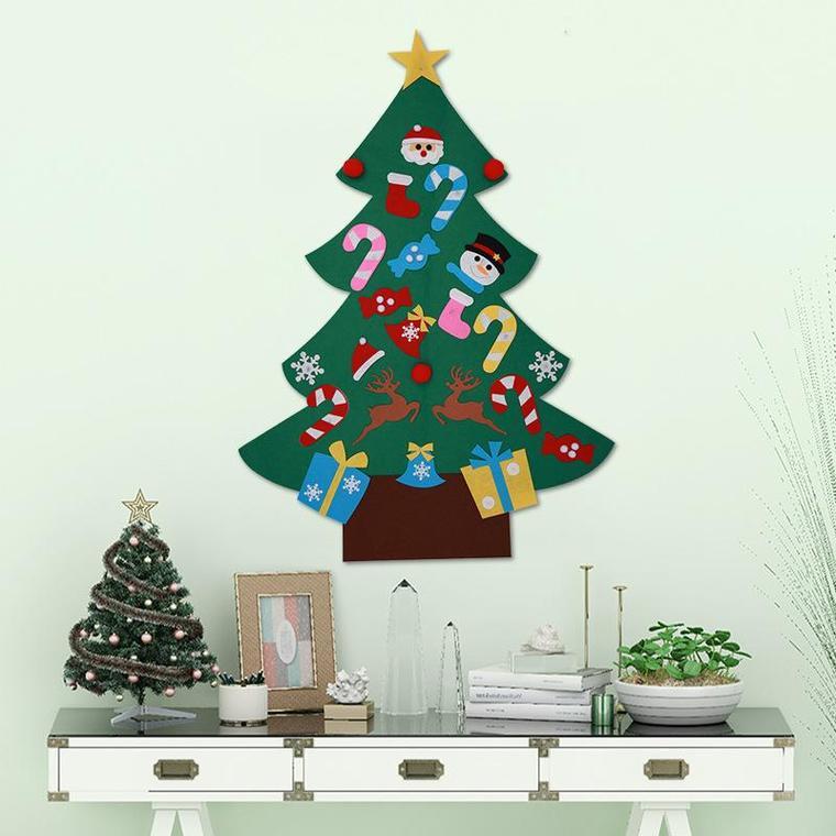 ideas de árboles de navidad fieltro