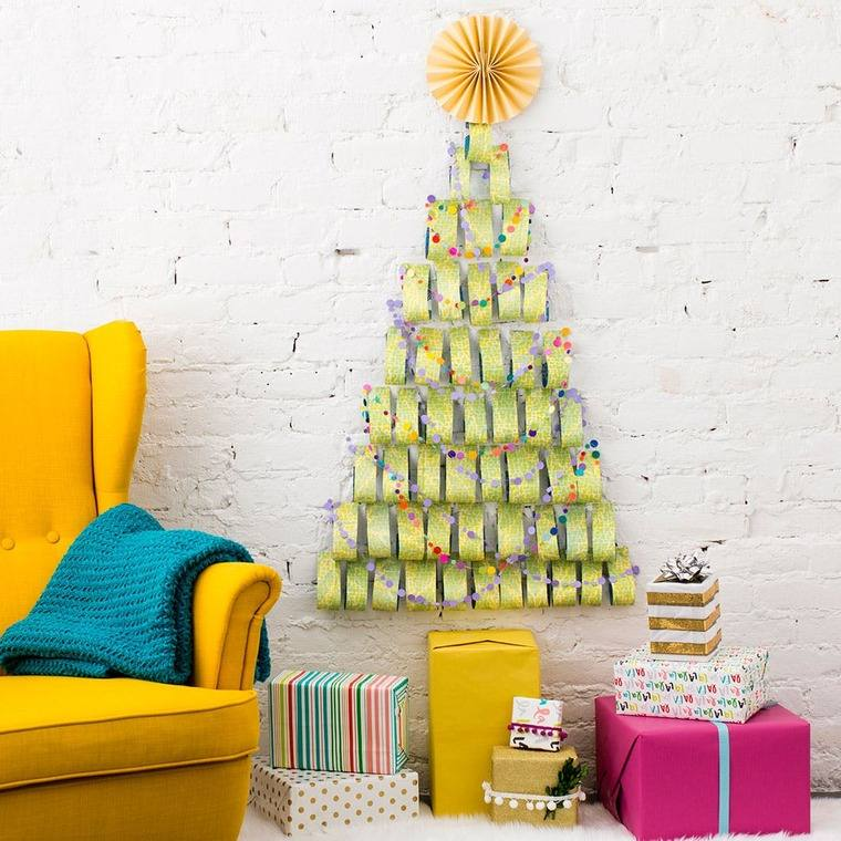 ideas de árboles de navidad papel
