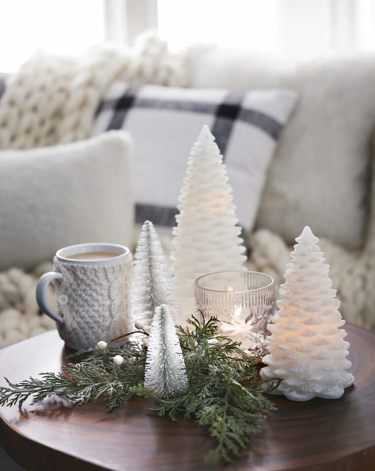 ideas de centro de mesa para navidad abedul