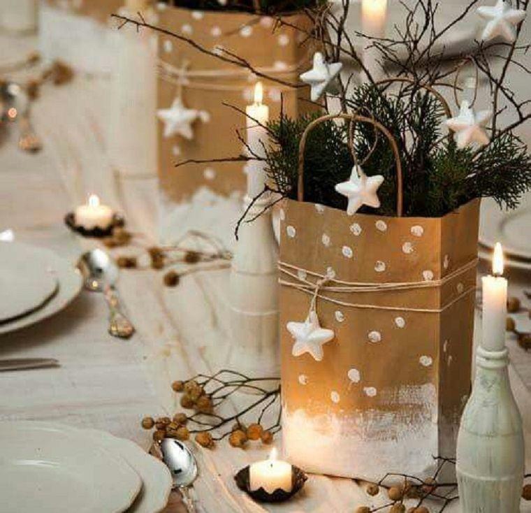 ideas de centro de mesa para navidad bolsas