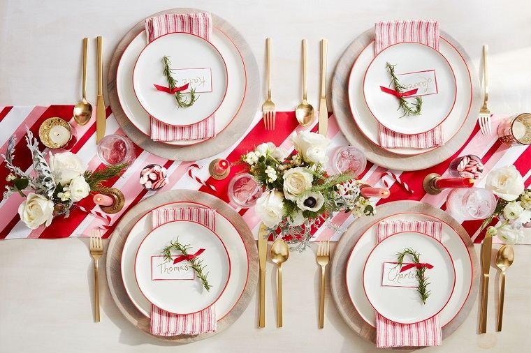 ideas de centro de mesa para navidad caramelo