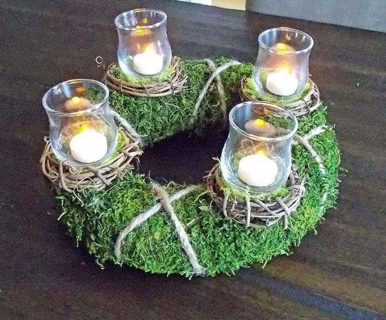 ideas de centro de mesa para navidad coronita
