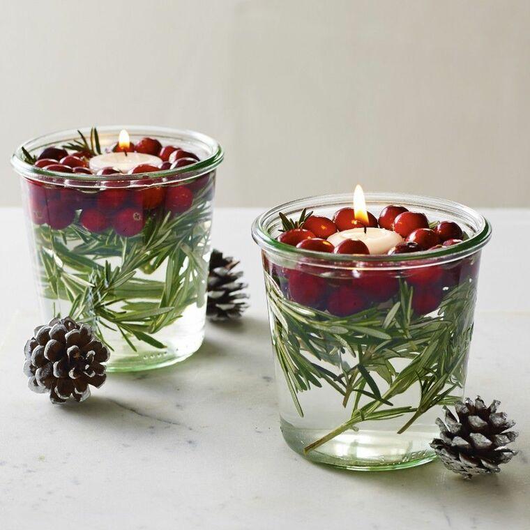 ideas de centro de mesa para navidad flotante