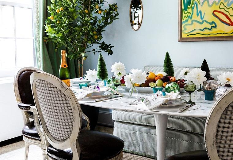 ideas de centro de mesa para navidad frutas