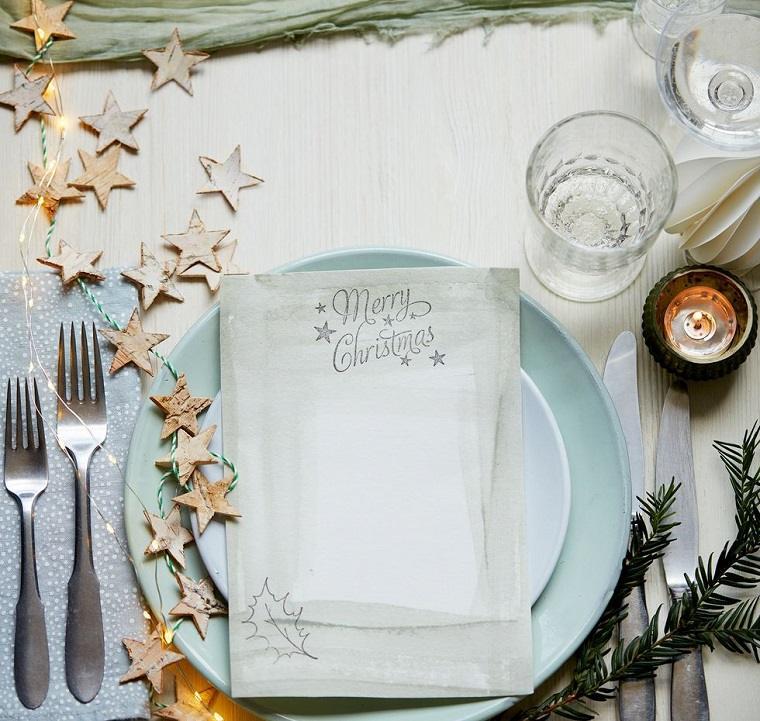 ideas de centro de mesa para navidad iluminado