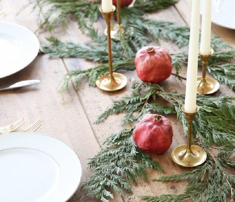ideas de centro de mesa para navidad invierno