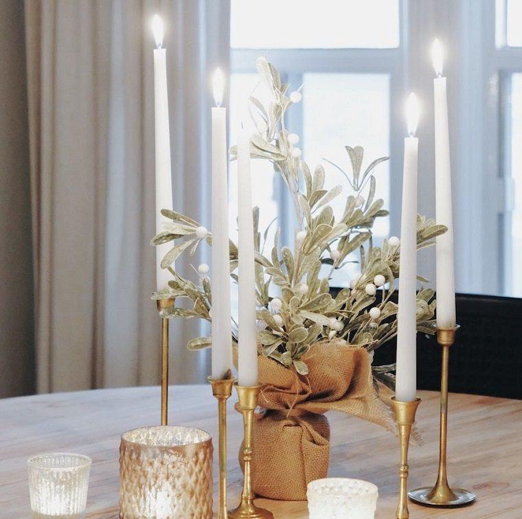 ideas de centro de mesa para navidad neutro