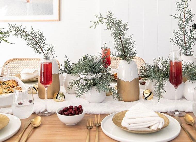 ideas de centro de mesa para navidad textura