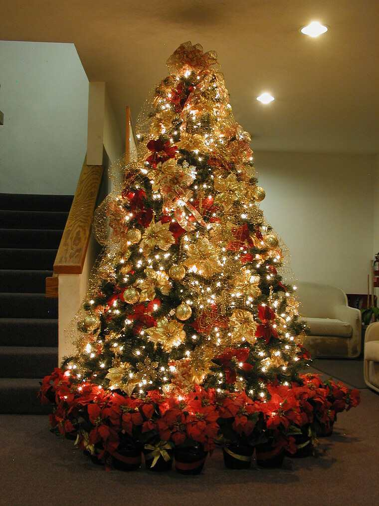 ideas de decoración navideña arbol