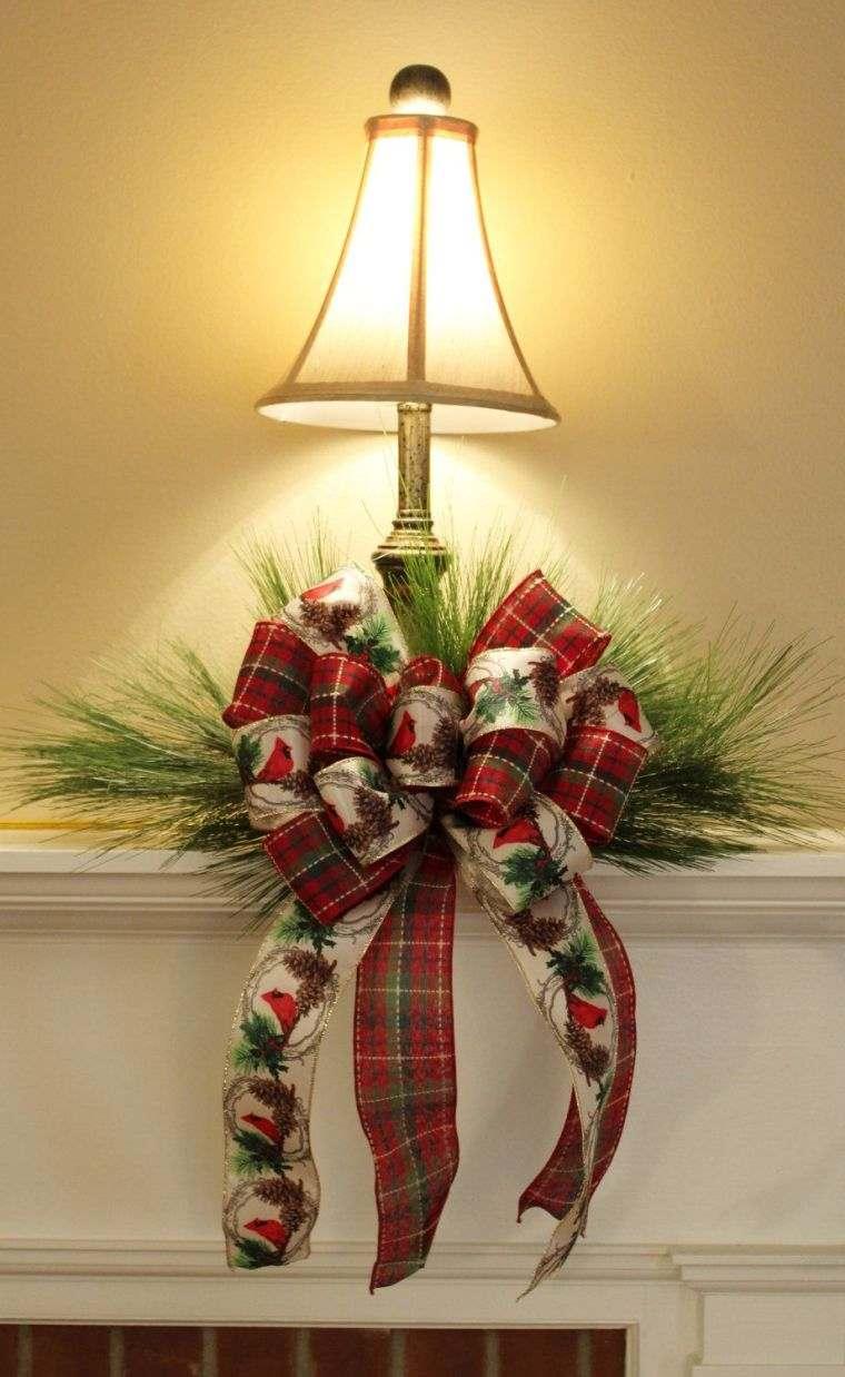 lazos navideños lampara