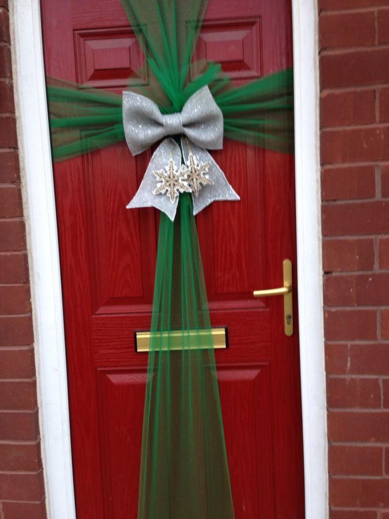 lazos navideños puerta