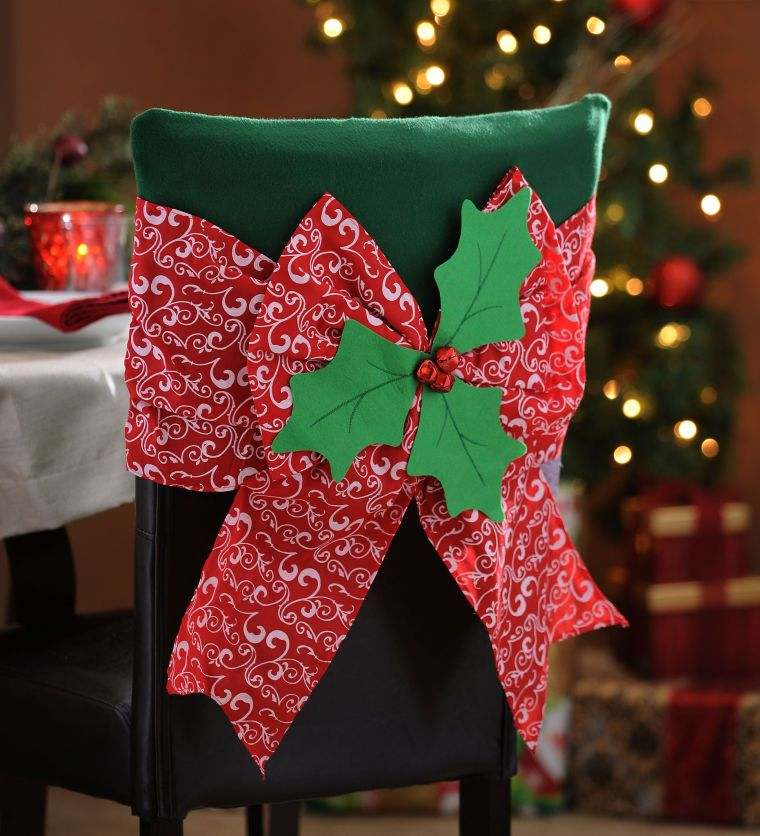 lazos navideños silla