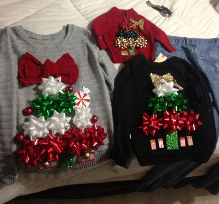 lazos navideños sueters