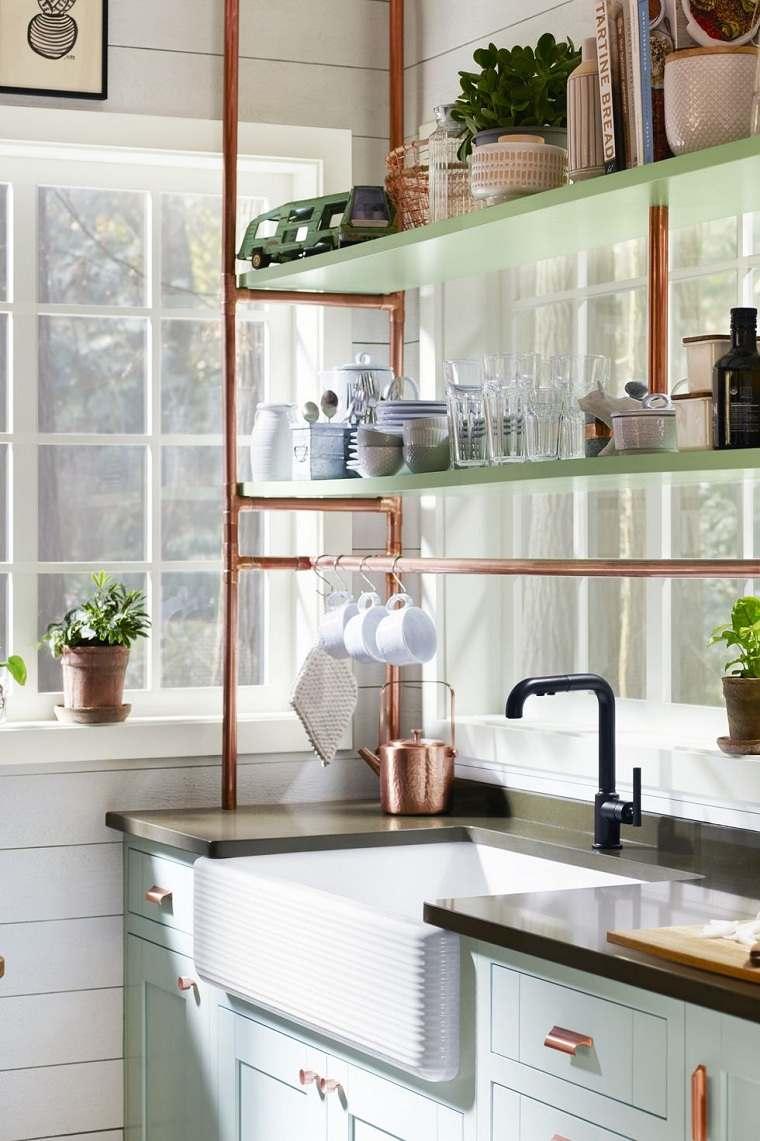 lugares-almacenamiento-estantes-cocina-cobre