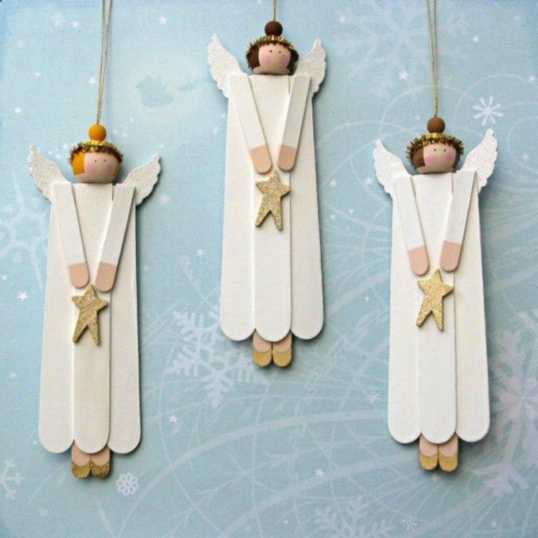 manualidades navideñas fáciles para niños angeles