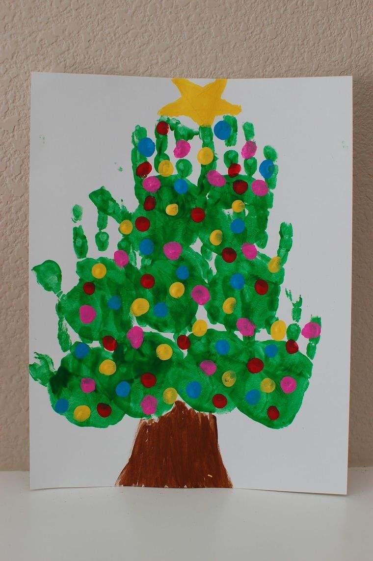 manualidades navideñas fáciles para niñso arbol