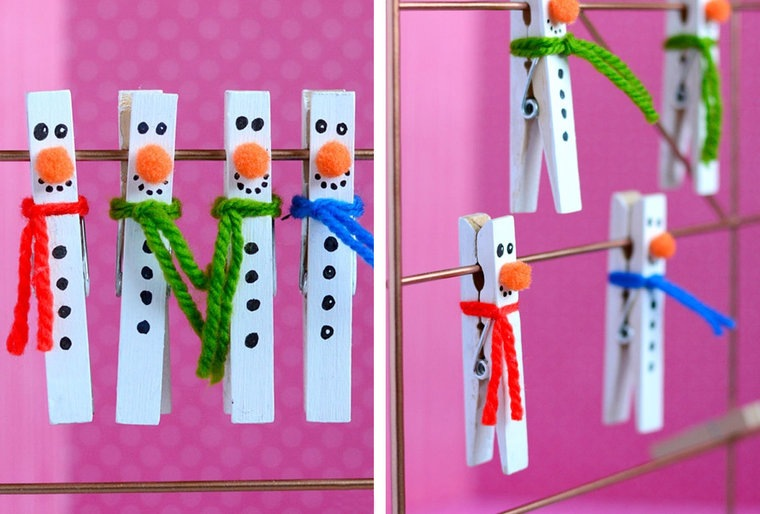 manualidades navideñas fáciles para niños ganchitos