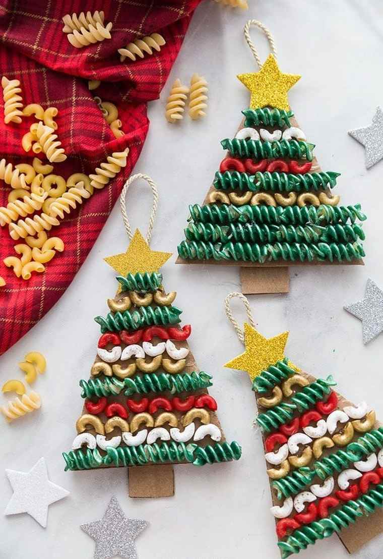 manualidades navideñas fáciles para niños macarron