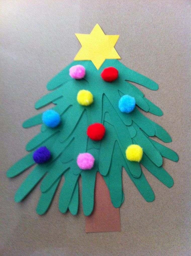 manualidades navideñas fáciles para niños mano