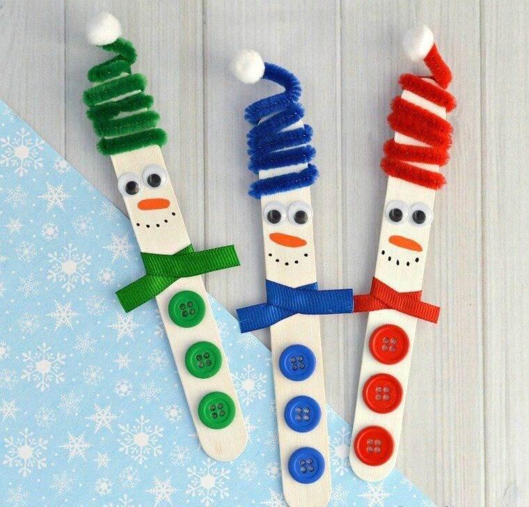 manualidades navideñas fáciles para niños paalitos