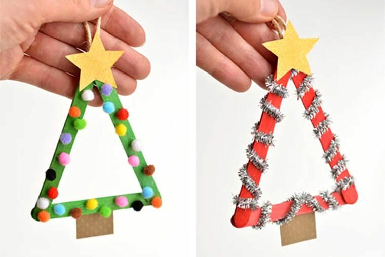 manualidades navideñas fáciles para niños palos