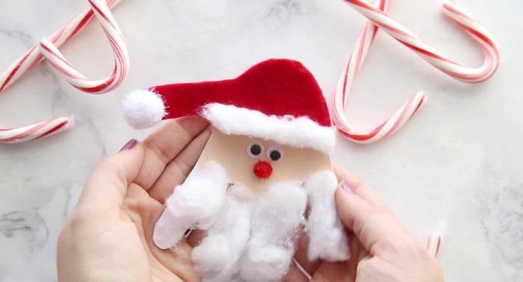 manualidades navideñas fáciles para niños papanoels