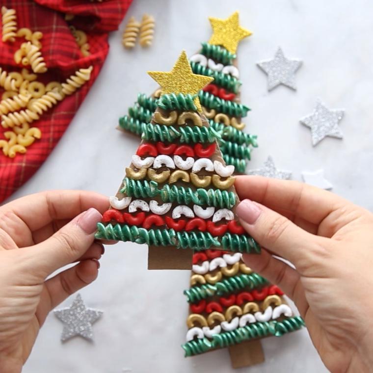 manualidades navideñas fáciles para niños pasta