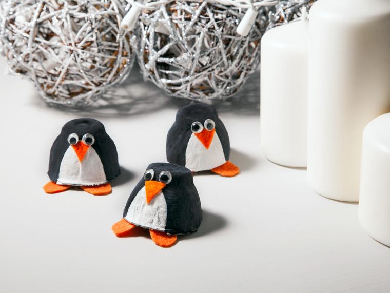 manualidades navideñas fáciles para niños penguino