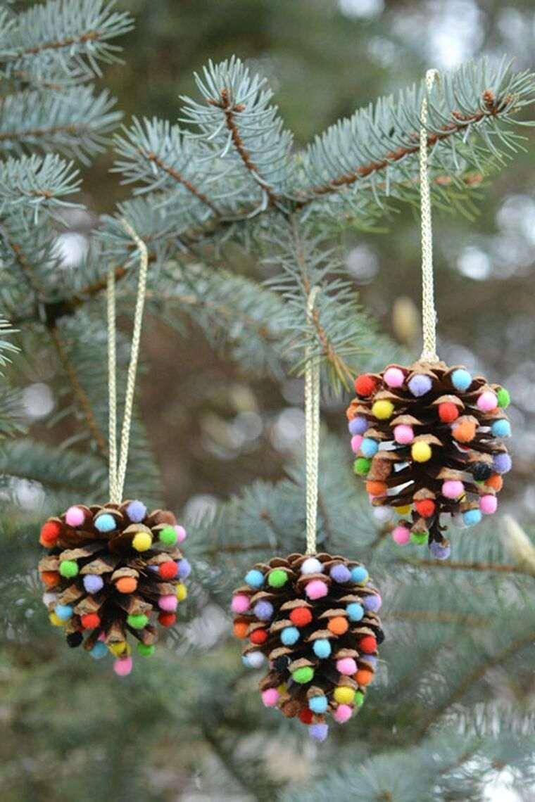 manualidades navideñas fáciles para niños piñas