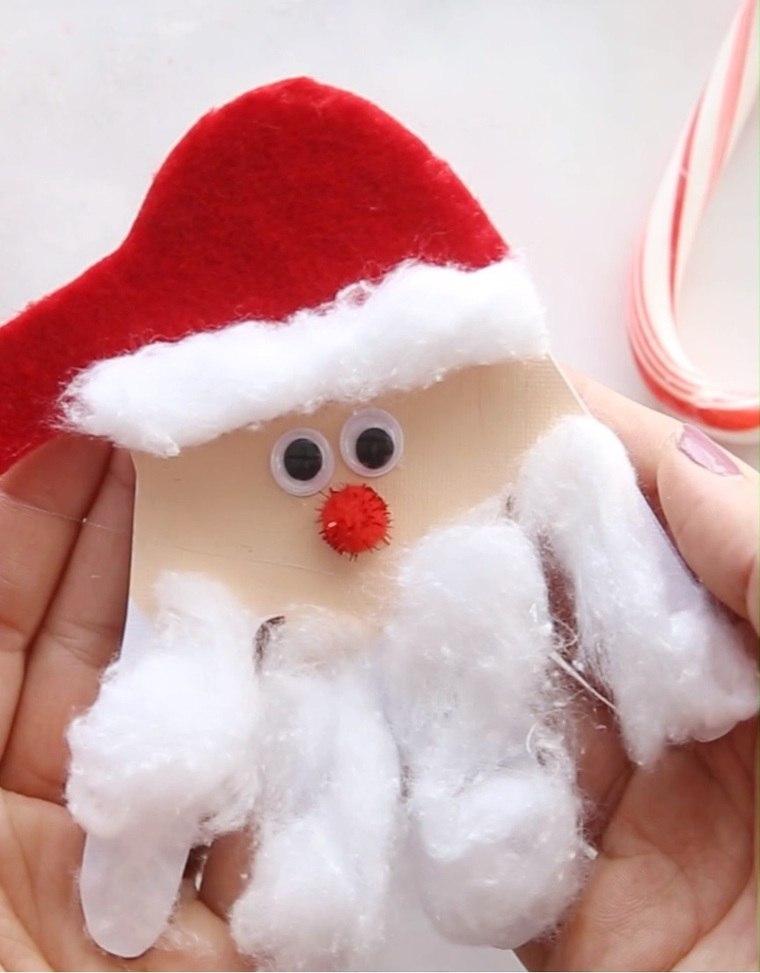 manualidades navideñas fáciles para niños santaa