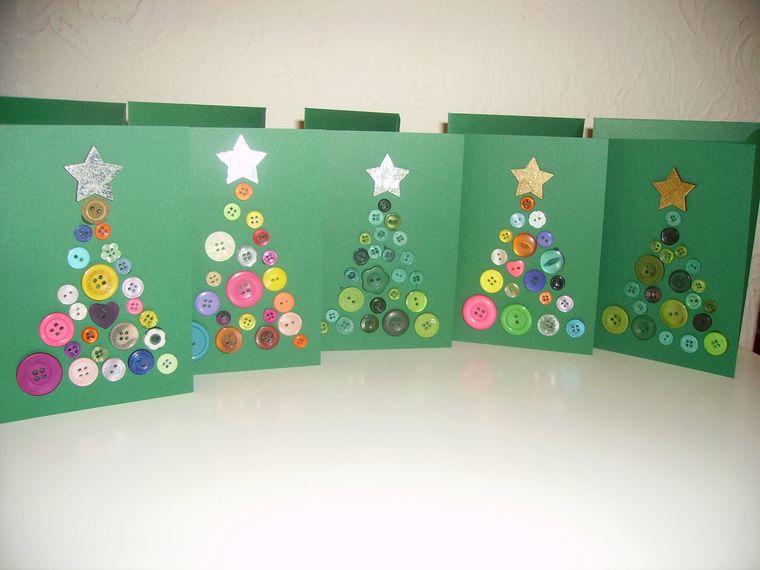 manualidades navideñas fáciles para niños tarjeta