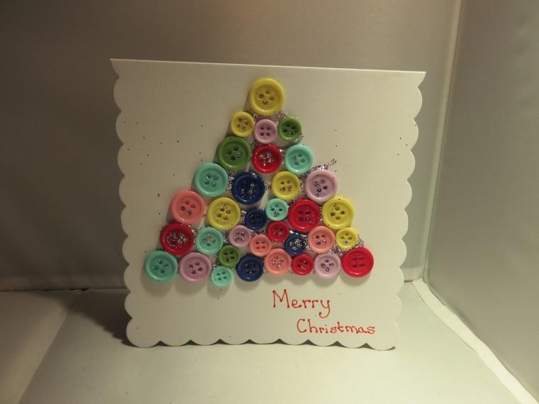 manualidades navideñas fáciles para niños tarjetita