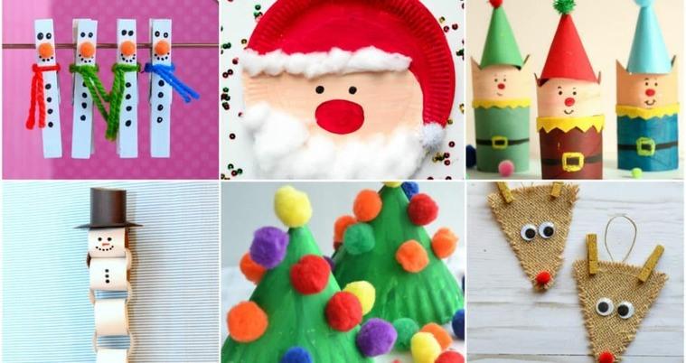 manualidades navideñas fáciles para niños varios