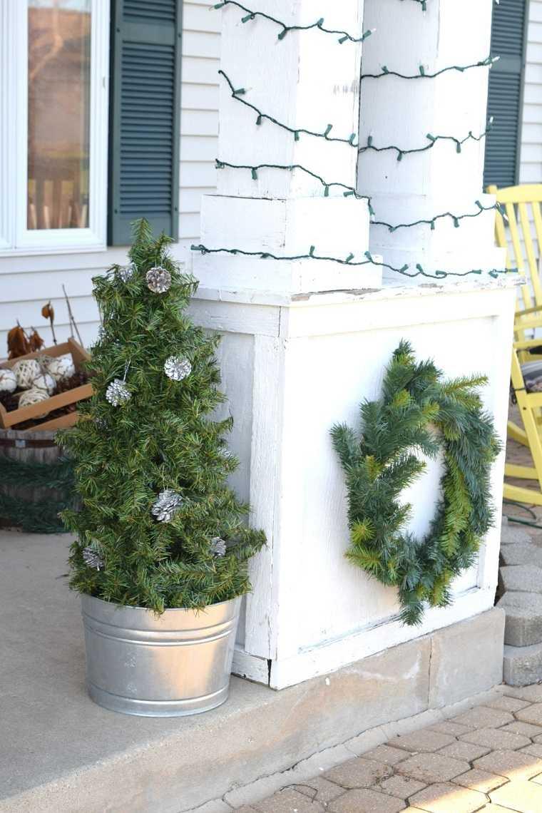 manualidades navideñas originales ramas verdes