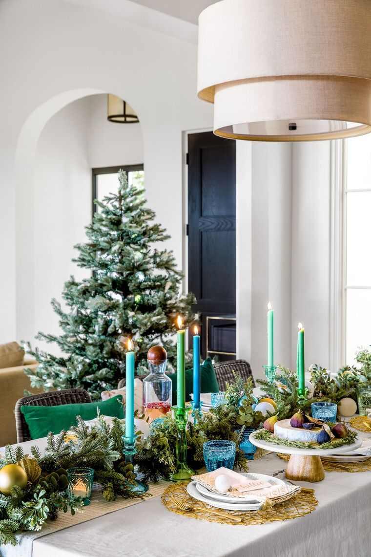 mesa de invierno azul