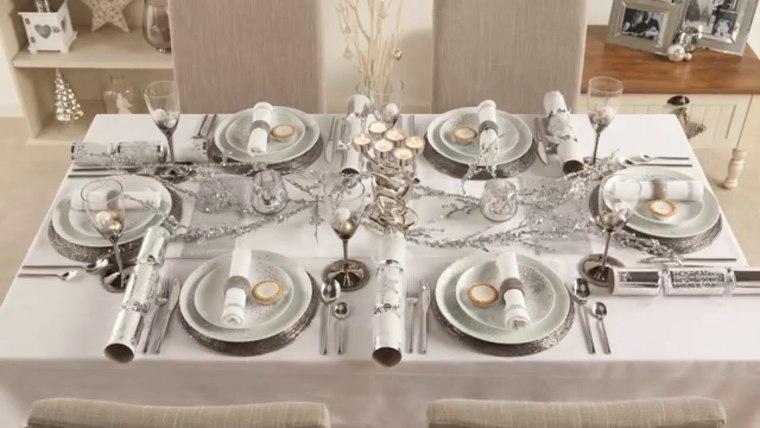 mesa de invierno blanco