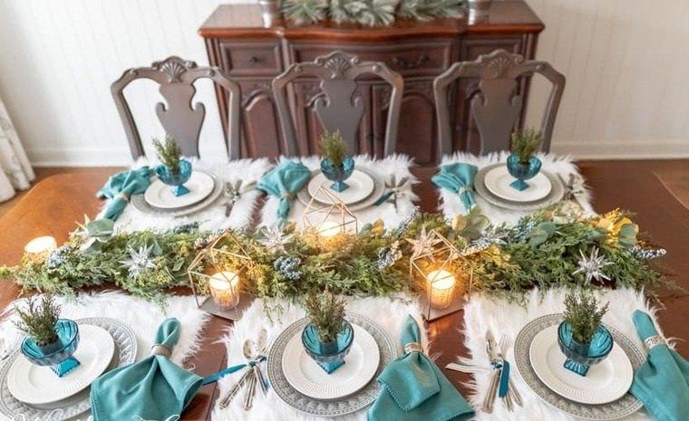 mesa de invierno celestee