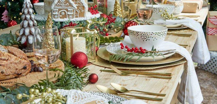 mesa de invierno decora