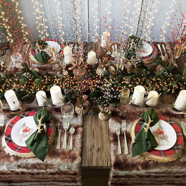 mesa de invierno natural