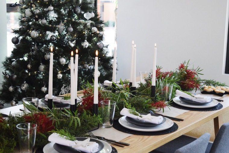 mesa de invierno negro